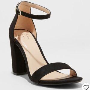 A NEW DAY• black ema high block heel pumps